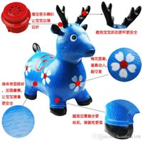 bamboo warehouse - Cheap children s toys inflatable jumping music painted red deer shook his rubber Malu Qing warehouse price