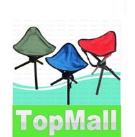 Wholesale Pocket Outdoor Camping Hiking Fishing Stool Tripod Three feet Folding Chair Seat With Leg Stool Green LLFA24