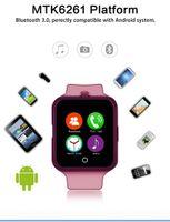 all'ingrosso wireless camera watch-D3 Bluetooth senza fili orologio intelligente con la macchina fotografica di sostegno SIM TF Multilingue SmartWatch per IPhone IOS Android 0.3 MP fotocamera