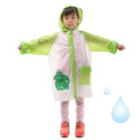 baby waterproof poncho - 100pcs Student Raincoat Baby Children Cartoon Kids Girls Boys Rainproof Rain Coat Waterproof Poncho Rainwear Waterproof Rainsuit ZA0728
