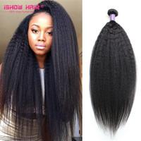 Wholesale Malaysian Kinky Straight Bundles Grade A Yaki Straight Hair Extension Unprocessed Malaysian Human Hair Weave Bundles