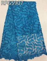 Wholesale Fast Shipping High quality RFG5907 multi color water soluble guipure lace fabric African guipure lace fabric for wedding