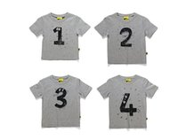 baby clothes australia - DHL Baby Australia brand funny short sleeve t shirt girls boys birthday short Tee kids figure letter t shirt children cheap clothes