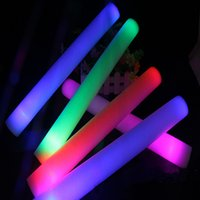 Wholesale LED Light Sticks Colorful Foam Props Concert Party Flashing Luminous Sticks Holloween Christams Festival Children Toys Gifts Supplies HH T27