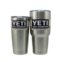 Wholesale cheap new hot sell Stainless Steel Yeti Cup YETI Rambler Tumbler oz oz oz Cup Coated in Neon Double Wall Bilayer Vacuum Mug