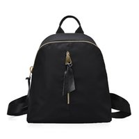 Wholesale Liang faction new female bag Oxford cloth shoulder bag with leather waterproof backpack backpack female Korean fashion simple PU free shippi
