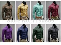 Wholesale Hot sales new arrival fashion design men s business shirts high quality pure colors for choice