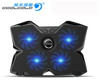 Wholesale HOT SELLING CoolCold Ice USB Four Fans Laptop PC Base Cooling Pad Cooler Radiator With Stand for Notebook Laptop Computer Peripherals
