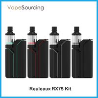 Cheap Authentic Wismec Reuleaux RX75 Kit RX 75w With RX75W box Mod 2ml Amor Mini Atomizer DHL Free shiipping