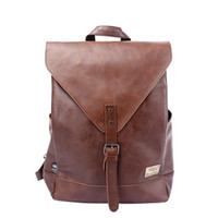 Wholesale Men Backpack For Teenagers Male Youth PU Leather Bag School Satchel Laptop Women Backpacks Casual Rucksack