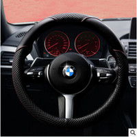 Wholesale 38cm genuine high end imported leather century automotive supplies microfiber leather steering wheel cover