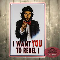 bathroom wanted - I WANT YOU TO Rabel painting Vintage tin poster art wall Decor House Cafe bar iron painting G