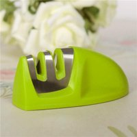 Wholesale 2016New Arrival Portable Kitchen Taidea Knife Sharpener Sharpening Tools For Knife Two Stages Diamond Sharpener Professional freeshipping818