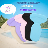 Wholesale 2 a heel stick heel insole heel pad thickening silicone insole adhesive after reducing wear women s thread code