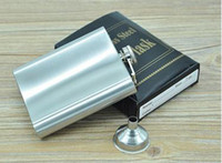 Wholesale 8 ounce stainless steel hip flask alcohol flask pocket flask wine flask liquor flask