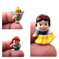 bell princess - Q version of chunky Princess Snow White Little Mermaid Ariel tinker Bell Fairy Micro Gardening landscaping Figure doll DIY Resin Craft