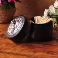 Wholesale New arrive South Eastern Asia styleToothpicks boxes wood Jewelry box creative carvings wooden toothpick holder boxes