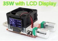 Wholesale 35W USB Industrial Load resistor constant current voltage double adjustable Interface Discharge capacity test LCD display fan