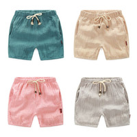Wholesale 2 age Summer Trousers For Boys Cotton Children Beach Capris Casual Kids Pants Harem Pants Boys