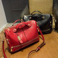 Wholesale High capacity Multi pocket color luxury women zipper genuine Leather handbags designers shoulder bags top handle messenger crossbody bags