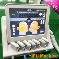 Wholesale 5 heads hifu machine portable hifu high intensity focused ultrasound used on body and face