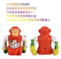 Wholesale carton lovely Creative electric toys luminous music gorilla monkey somersaults Children s toys supply stall