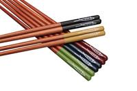 beechwood wood - Multi Color Fish Pattern Beechwood Chopsticks Gift Set Pack of Blue Green Red Black Yellow