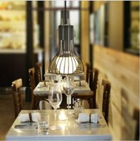 Wholesale The new art deco style antique chandelier lamp wire paint horn type E27 steel wire glass lampshade lampshade