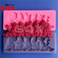 Wholesale New arrival Seven Dwarfs silicone cake mold cake decorating tools DIY baking molds kitchen accessories MR70
