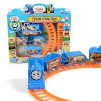 Wholesale 2016 new Thomas rail car Train Track Orbital Electric Train Rail car chritmas gift for kids