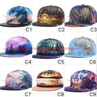 baseball cap pattern free - 2016 New D Color Printing Buddha Pattern Sports Baseball Cap Hip hop Hats Colors Adult Size Adjustable Flat Hat