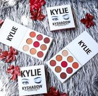 Wholesale 2016 NEW Kylie Jenner Kyshadow Palette Burgundy Eyeshadow Colors Eye Shadow Palette DHL