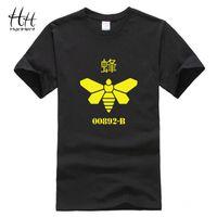 bee tee shirts - Breaking bad Yellow Bee Printing T Shirt Men Heisenberg Cook Tee shirt Cotton Loose Sport T shirts Swag Clothes Hiphop TA0484