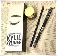 Wholesale Kylie Cosmetics brithday edition kylie kyliner eyeliner and Gel pot Brush liner colors black brwon bronze VS Five Stars Skin Frost