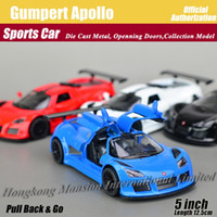 apollo sports - 1 Scale Diecast Alloy Metal Super Sports Car Model For Gumpert Apollo Collectible Model Collection Pull Back Toys Car
