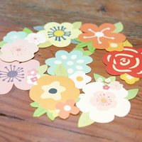 Wholesale pieces Fresh Flowers Greeting Card DIY Cute Mini Blessing Cards Thank You Card Message Card