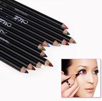 Wholesale 12PCS Color Black Make Up Beauty Pen Eyeliner Eye Liner Pencil Eyebrow Nice Cosmetics Eyes Makeup Stick b119
