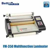Wholesale FM Multifunction paper laminating machine photo paper catalog sheet heated roll laminator V constant temperature