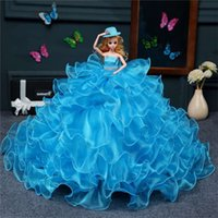 activity toys direct - Barbie dolls activity joints of blue tail wedding dresses Factory direct sale bride marriage home furnishing articles