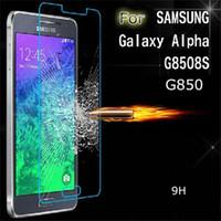 alpha glass - 2 D MM Flim Toughened Glass Membrane Screen Protector for Samsung Galaxy Alpha G850 G8508S