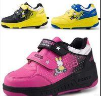 athletic roller - Girls Boys Shoes Sneaker Fashion New Heelys Kids Roller Shoe Children Wheel Shoes Rollerskate Running Boys Athletic Girls Shoes Size