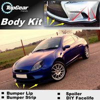 Wholesale Bumper Lip Lips For Ford Puma Front Skirt Deflector Spoiler For Car Tuning The Stig Recommend Body Kit Strip