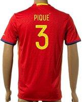 La calidad de Tailandia Jersey Gerard Piqué España 2016 2017 del fútbol del fútbol de los jerseys 3 PIQUE 6 A.Iniesta 21 Silva 18 Jordi Alba 10 Fabregas 15 Ramos