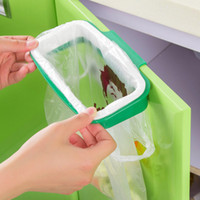 Wholesale Rubbish Bag Storage Rack Hanging Kitchen Cupboard Door Back Stand Trash Garbage Bags Storage Rack Bag Clip