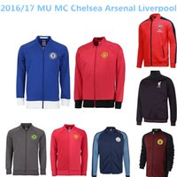 arsenal chelsea - Manchester city MU United MC Chelsea Arsenal Liverpool soccer jacket LONG sleeve Tracksuit football shirt