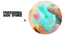 Wholesale Color Comfortable Sponge Bath Cartoon Large Bath Ball Baby Bath Rub Cute Diameter CM Nylon