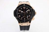 big men stores - jason007 s store luxury brand watches men quartz chronograph black rubber band watch gold case big bang sport watches men dress wristwatches