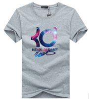 best basic t shirts - 2016 New Kevin durant basketball fashion casual brand t shirt jersey sports loose best letter KD men tops tee basic wear summer