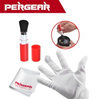 Wholesale Pergear Cleaning Kit Lens Cleaning Pen Brushes Mircro Fibre Lens Cloth Antistatic Glove For Canon Nikon Camera Lens P0014693