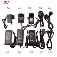 Wholesale High Quality power adapter supply for led strip EU US UK AU for AC110 V to DC12V A A A A A A A plug lighting transformer